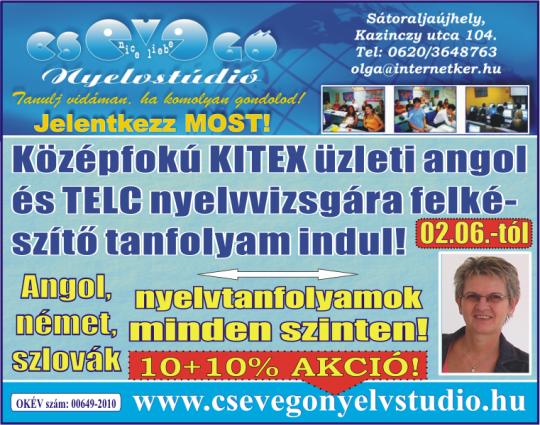 KITEX és TELC nyelvvizsga felkészítő