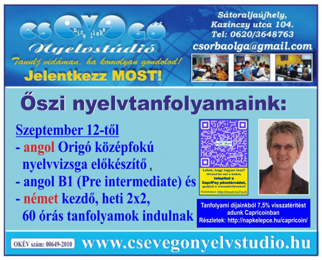 05.29-i Csevego hirdetés