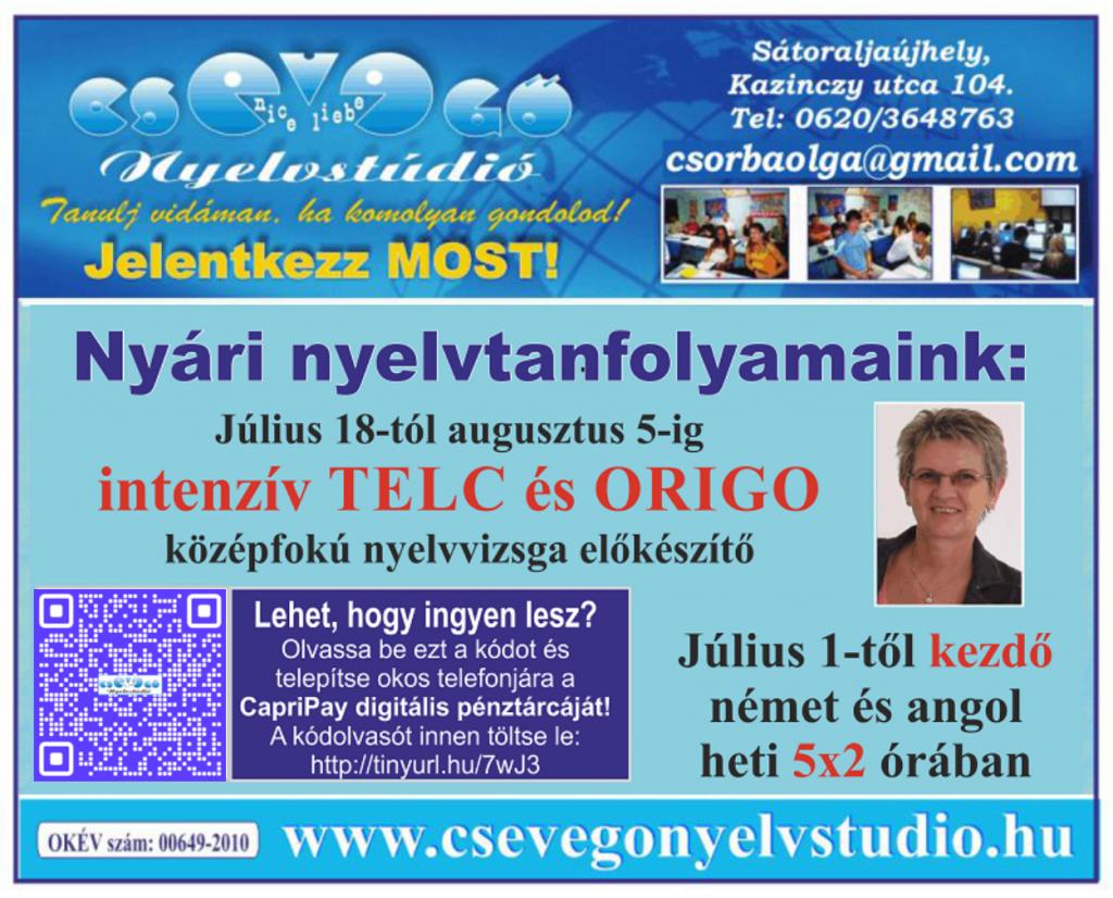 Csevegő 05.29 javított hirdetés